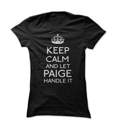 Are You #PAIGE? This shirt is designed specially for you! #LIMITED #EDITION! Click the image to buy!  #pink #shirt #personalized_t-shirts