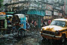 雨のコルカタ | ナショナルジオグラフィック日本版サイト