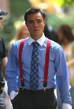 "Ed Westwick I simply love the way he dresses.  Only the finest fabrics, the use of color and patterns are so imaginative.  HE STANDS OUT IN A CROWD THAT SAYS  ""I KNOW, IT JUST WORKS FOR ME."""