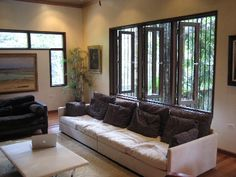 Like this room idea for windows in living room