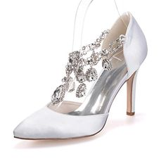 Women s Shoes Silk Stiletto Heel Pointed Toe Pumps Heels Wedding Party    Evening More Colors available cddfbf4e3482
