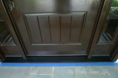 Calling it Home: the correct way to paint an aluminum threshold plate