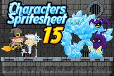 Check out Characters Spritesheet 15 by pzUH on Creative Market