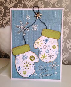 Snow card by Gail Owens for @kiwilane using Kiwi Lane templates and Pebbles, Inc. paper