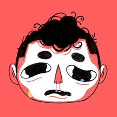 """""""Sweet, sticky, multicolored tears.""""  I animated that doodle from yesterday for a tiny joke on twitter & thought it turned out alright. Kris Mukai's recent potato GIF got me really excited about doing simple little doodle GIFs like this."""