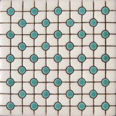 """Country relief tiles are highly decorative. They are made by Rustica House in Mexico and often used for kitchen backsplash and stair risers. Relief Tile """"Green Points"""" by Rustica House. Wall E, Graphisches Design, Tile Design, Funky Design, Design Bathroom, Tile Patterns, Textures Patterns, Print Patterns, Turquoise Tile"""