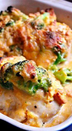 Copycat recipe - Cracker Barrel Broccoli Cheddar Chicken ❊