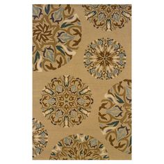 Found it at Wayfair - Vance Floral Beige Rug in front of sliding glass doors