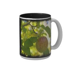 Apples 1 on Black Coffee Cup from Florals by Fred #zazzle #gift