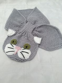 Knitting Pattern for Cat Scarf - #ad This is one of the cutest cat scarves I&...