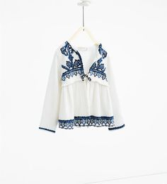 Image 1 of Flowing embroidered jacket from Zara