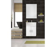 Έπιπλο μπάνιου Drop Alba 55 Λευκό