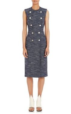 BALENCIAGA Tweed Midi-Dress.