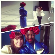 llupitanyongo Another @Jacob Renquist Pillai York Magazine #bts with the gorgeous @rscapellan. Spring is her smile.