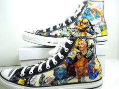 Men's XMen Comic Book Custom Sneakers $80.00, via Etsy.