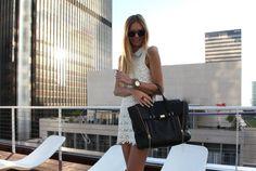 I want a white lace tunic dress.
