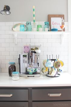 Create a little coffee station to start your morning off on the right foot.