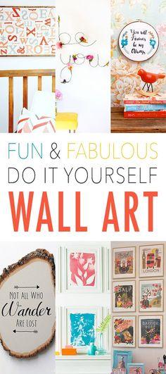 Fun and Fabulous DIY Wall Art