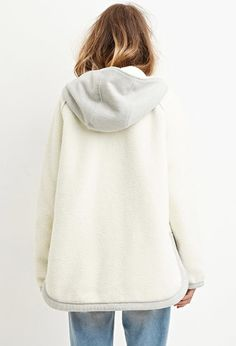 Faux Shearling Hooded Jacket | Forever 21 - 2000178956