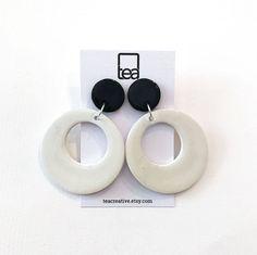 CIRCULAR HOOPS | Polymer Clay Earrings