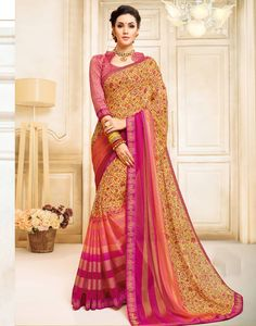 475987123a9c2c Multicolor brasso saree with blouse