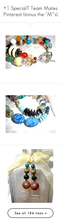 """""""#1 SpecialT Team Mates Pinterest (minus the """"M""""'s)"""" by rescuedofferings ❤ liked on Polyvore featuring jewelry, bracelets, vintage jade jewelry, beaded jewelry, lapis lazuli jewelry, vintage silver bangle, pearl bangles, necklaces, turquoise necklace and gemstone beaded necklaces"""