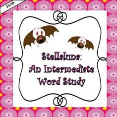 Three interactive lessons introducing six words from Stellaluna with exit slips, vocabulary test, and comprehension review
