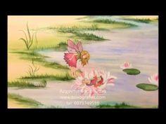 Νεράιδες των λουλουδιών ζωγραφική παιδικού δωματίου