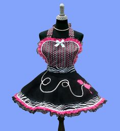 Women's Apron  Womens Jersey Poodle Skirt Retro by OnceUponAPoodle, $58.95