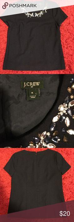 J.crew blue jewel collar blouse size 4 J.crew blue jewel collar blouse size 4 J. Crew Tops Blouses