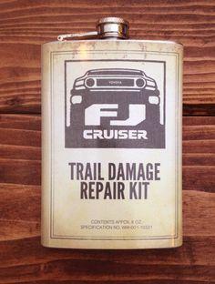 FJ Trail Damage Repair Kit 8oz Flask – Wicked Wheeler