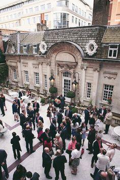 Annie & Mike Drinks reception at Dartmouth house #mylondonweddingplanner