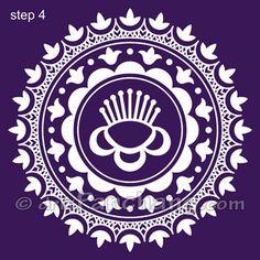 Alpana Designs   Rangoli Designs - Bengali Alpana 7
