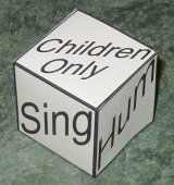 LDS Primary Singing Time Idea - Singing Cube: Singing Cube