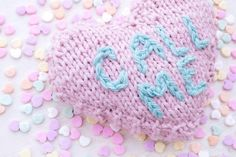 Knit Message Heart b