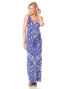 A Pea In The Pod Maternity Nicole Miller Sleeveless Pleated Maternity Maxi Dress
