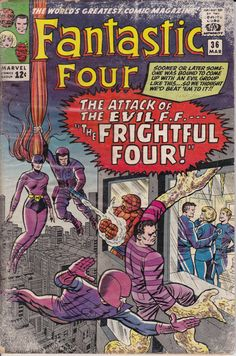 Fantastic Four 1961 1st Series 36 March 1965 Issue  by ViewObscura