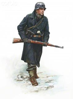 World War II, Nazi Germany, Luftwaffe Jager, 18th Volksgrenadier Division, Ardennes 1944