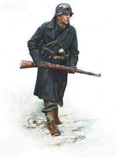 World War II, Nazi Germany, Luftwaffe Jager, 18th Volksgrenadier Division, Ardennes 1944