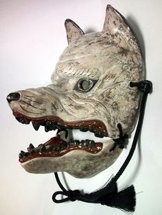 Japan a very nice maskDog God mask. Japan a very nice mask Kitsune Maske, Mask Japanese, Japanese Wolf, Tattoo Japanese, Japanese Kimono, Japanese Style, Zoo 2, Kubo And The Two Strings, Wolf Mask