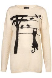 Knitted Hanging Cats Jumper