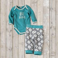 Super soft 100% cotton bodysuit wraps baby in a heartfelt message of courage - Be Brave, Baby! Exclusively from Hallmark Baby