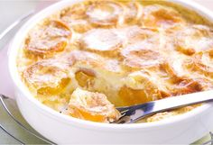 A sweetened fruit pudding made with apricots and rice. Creamy and scrumptious.
