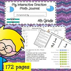 This is my best piece of work so far! It is 172 pages in all. This unit covers EVERY fraction standard in the Common Core for 4th grade. Not only does it cover them, but it is designed as a spiral to ensure mastery for all students.   This unit includes everything you will need and most importantly everything the children will need to be successful!  - A cover page - Detailed purpose and ideas for how to use the unit - Interactive Journal Index ( 4 pages) - Standards covered ( 2 pages )…