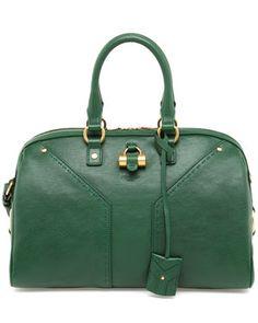 "Yves Saint Laurent ""Muse"" Leather Bowler Bag"