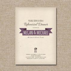 Rehearsal Dinner Invitation, Simple Parchment, by JRaeCardArt, $15.00