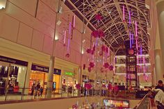 Leicester Highcross shopping centre at Christmas