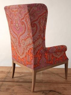 Image result for paisley wingback chair