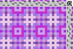 Marg Coe: e-weaving | deflected double weave | 6 colors | 8-shaft, 8-treadle