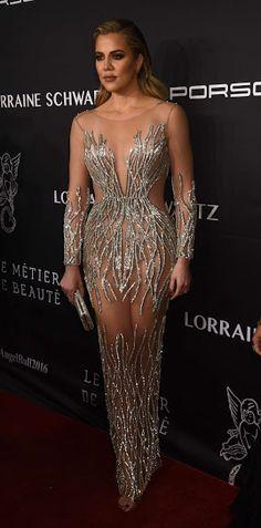 Khloé Kardashian in Yousef Al-Jasmi, 2016 Angel Ball